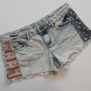 Mossimo   acid wash denim shorts